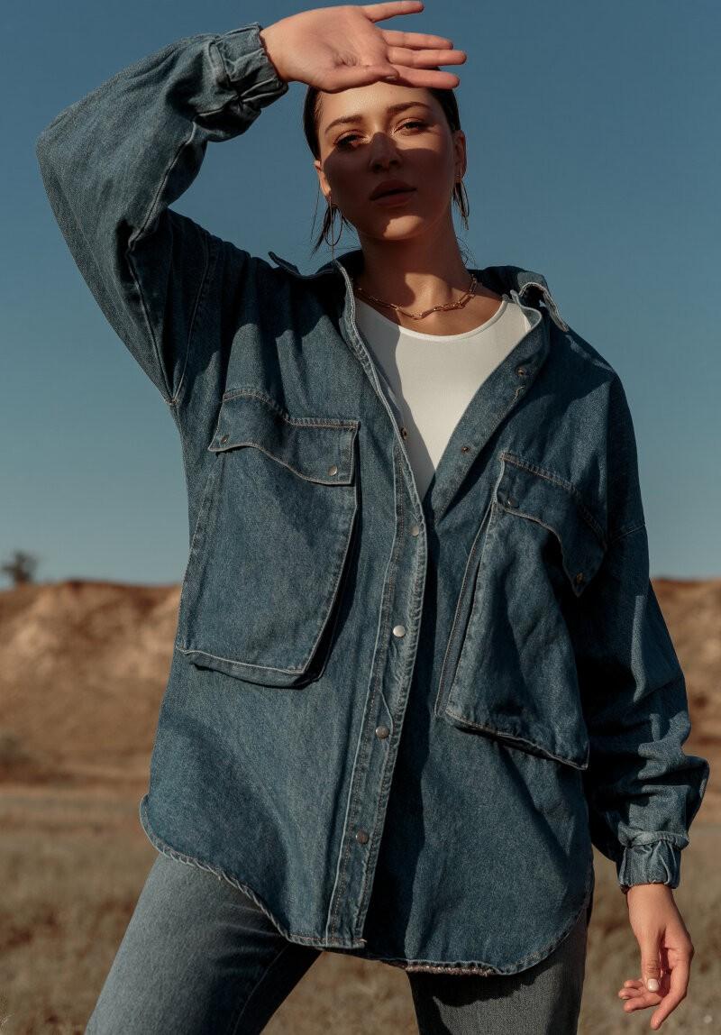 джинсовая куртка рубашка
