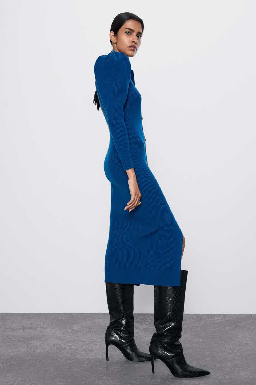 платье цвета синяя ибица