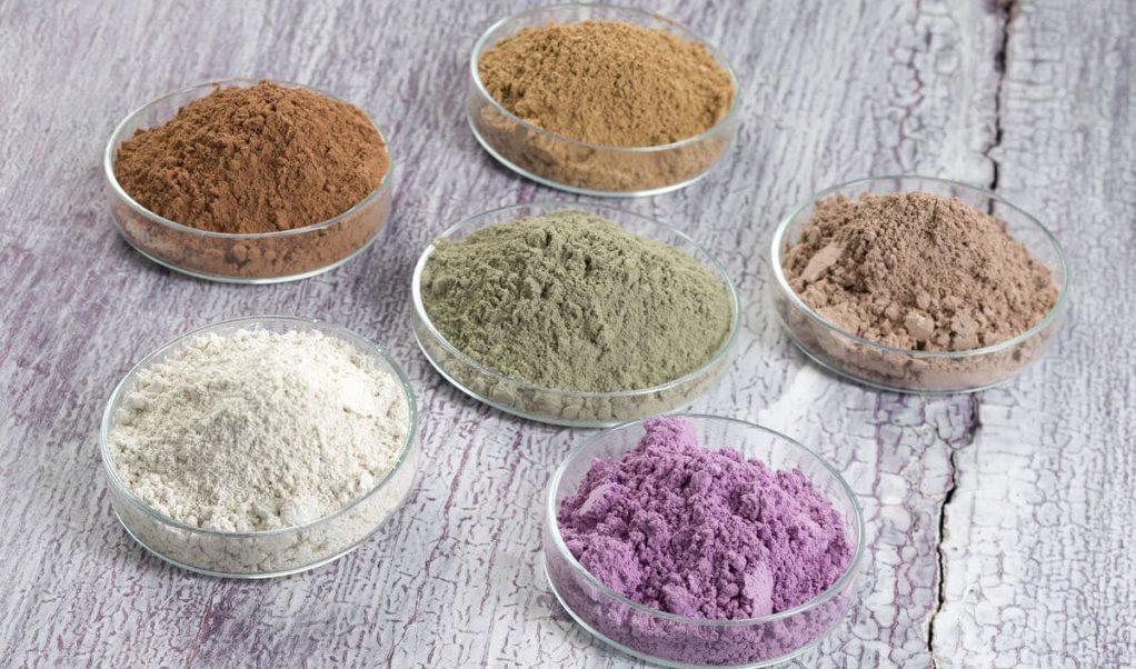 виды глины для лица
